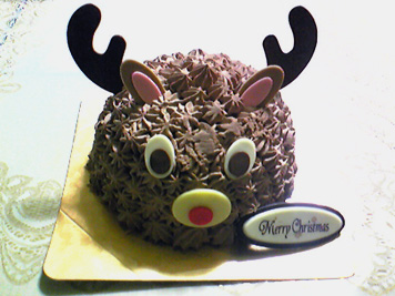 トナカイさんケーキ♪