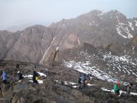 山頂近くの苦しかった道のり。
