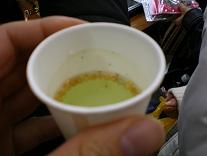 昆布茶の試飲