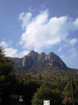 晩秋の三倉岳