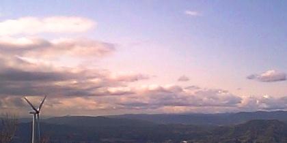 大星山からのぞむ北西の空