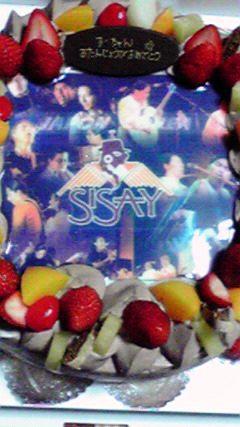 SISAYのケーキだ!!