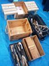 工作台や工具の数々