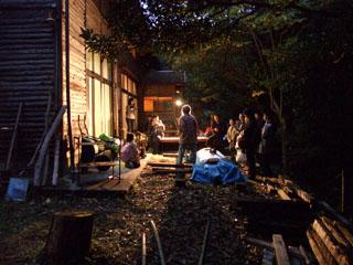 夜の森で合奏会