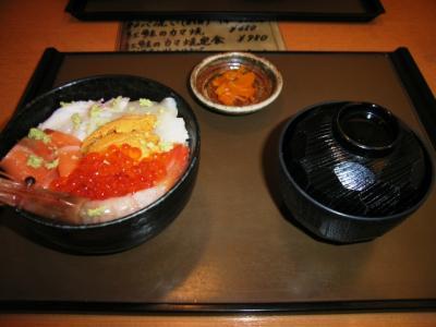 函館朝市の海鮮丼