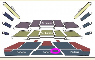 バスティーユの座席