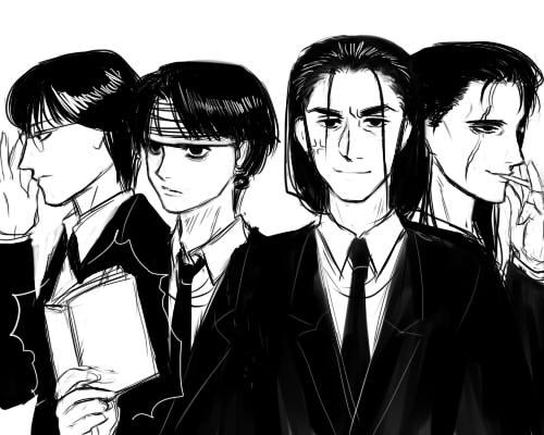 黒髪スーツ
