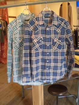 GチェックWSTシャツ