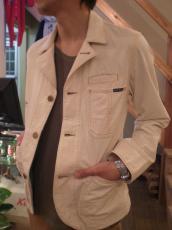 ショートドリルスマイルカバーオールジャケット