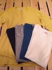 GSY ハーフスリーブUネックTシャツ