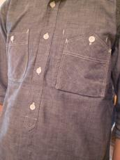 ORG ダンガリースタンド七分袖シャツ