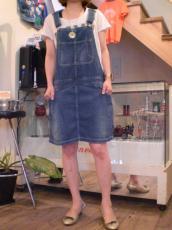 DE USED オーバーオールスカート