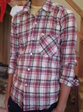 GAIJIN シャーリングチェック L/Sシャツ