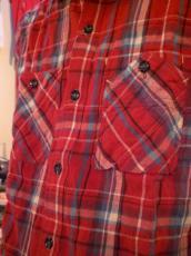 スパンネルチェックL/Sシャツ