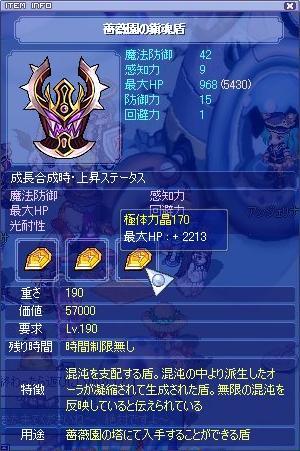 HP+6398sl3薔薇盾