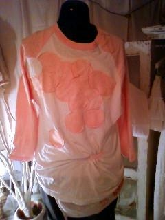 ラグラン桃×白 リメイク