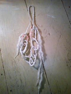 鎖ネックレス 白