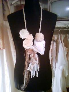 毛糸ネックレス