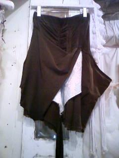 変形スカート グレー