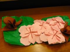 折り紙で紫陽花