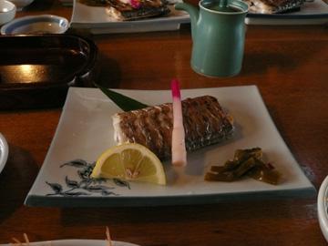 太刀魚の焼き魚