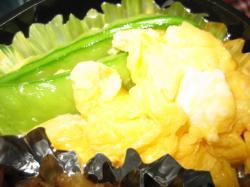 絹さやの炒り卵
