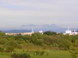 久しぶりに山が見えたよ~(^^)