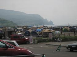 浜益のキャンプ場