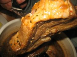 トッピングの豚角煮
