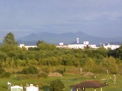 8月31日夕方の大雪山