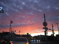 2009年8月31日の夕焼け