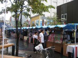買物公園の「たいせつマルシェ」(2009年9月6日)