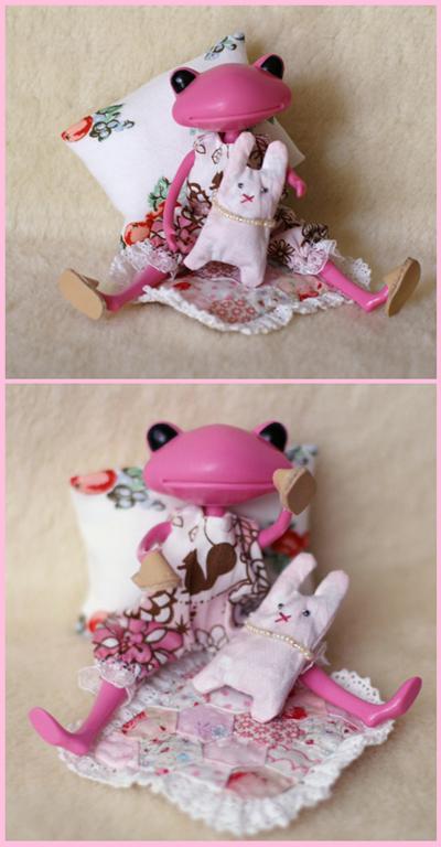 ピンクのロンパース くつろぎセット1
