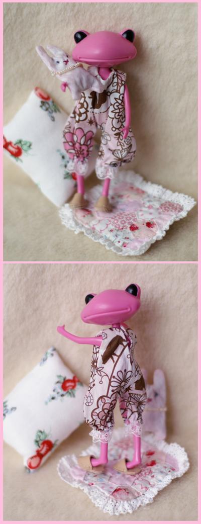 ピンクのロンパース くつろぎセット2