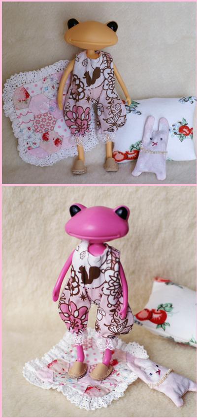 ピンクのロンパース くつろぎセット3