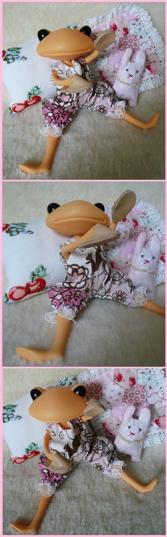 ピンクのロンパース くつろぎセット4