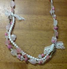 ピンク系ネックレス 2