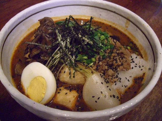 カブと揚げ出し豆腐の肉そぼろ+マイタケ(15)_20080601