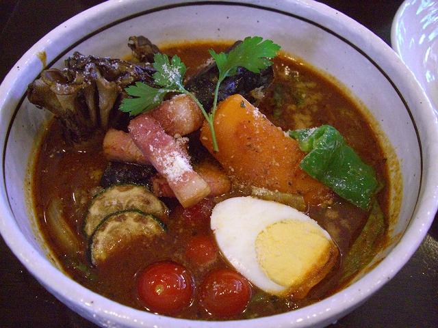 ナスの肉詰めと夏野菜+マイタケ(20)_20080816