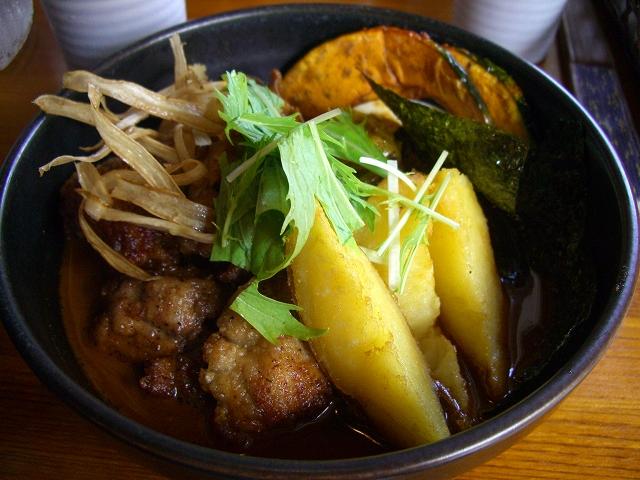 知床鶏とゴボウ+マイタケ、北あかり_チキン(8)_20080907