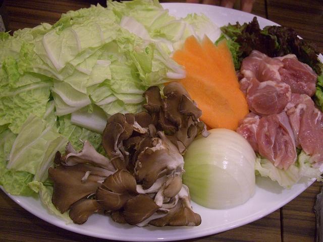 牡蠣鍋野菜_20081220