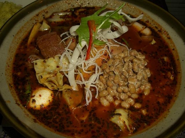 ポーク角煮+しらたき、納豆、フランク(虚空100)_20080111