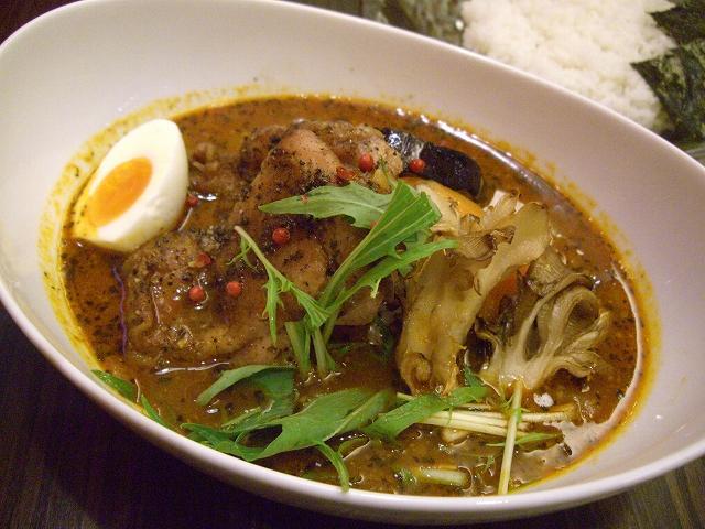 炙り米ナスとペッパーチキン+マイタケ(15)_20090501