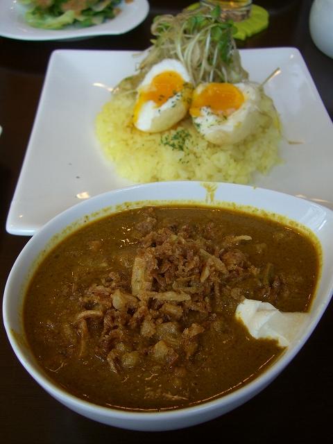 チキン(激辛)+ネギポン、揚げ卵