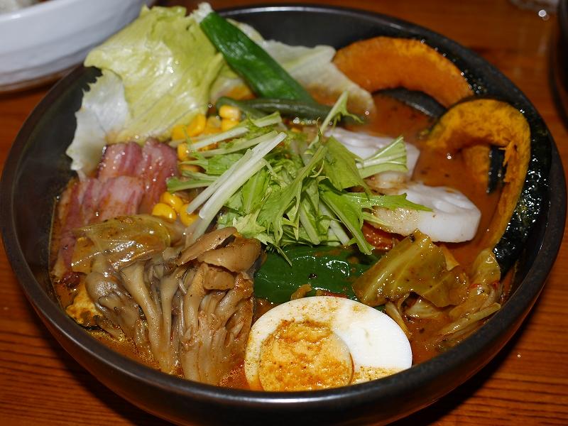 夏野菜と子ヒツジベーコン+舞茸、蓮根_エビ(7)_20090809