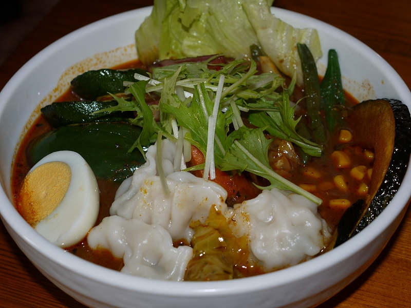 夏野菜と子ヒツジベーコン+キャベツ、餃子_チキン(10)_20090809