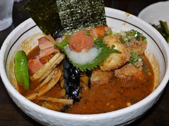 揚げ出し豆腐と梅のおろし添え+ベーコン(15)_20090909