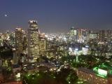 愛宕方面から新橋・汐留方面の夜景