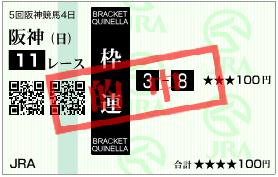 阪神JF枠連2