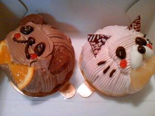クマ&ネコのケーキ